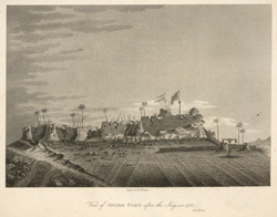 View of Onore Fort after the Seige in 1783
